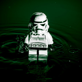 Water drop - toy by Barrington Dent - Artistic Objects Toys ( storm trooper, rain, lego, water drop )