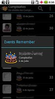 Screenshot of Events Remember Free!