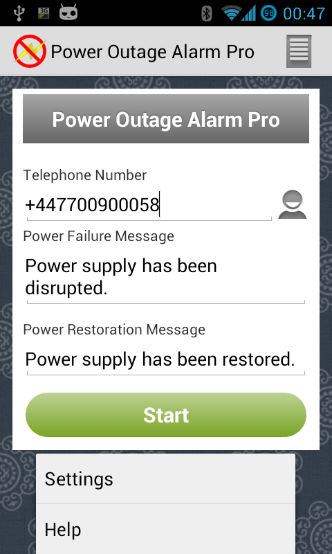 Power Outage Alarm Pro- screenshot