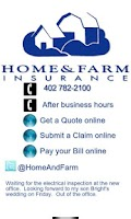 Screenshot of Home and Farm Insurance