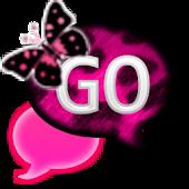 GO SMS - PinkCheetahButterfly2