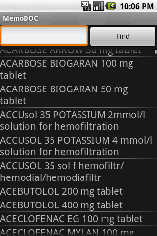Pharmaceutical Drugs - screenshot