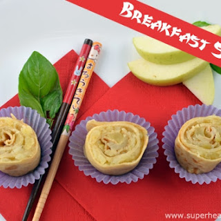 Breakfast Sushi Apple Roll Ups