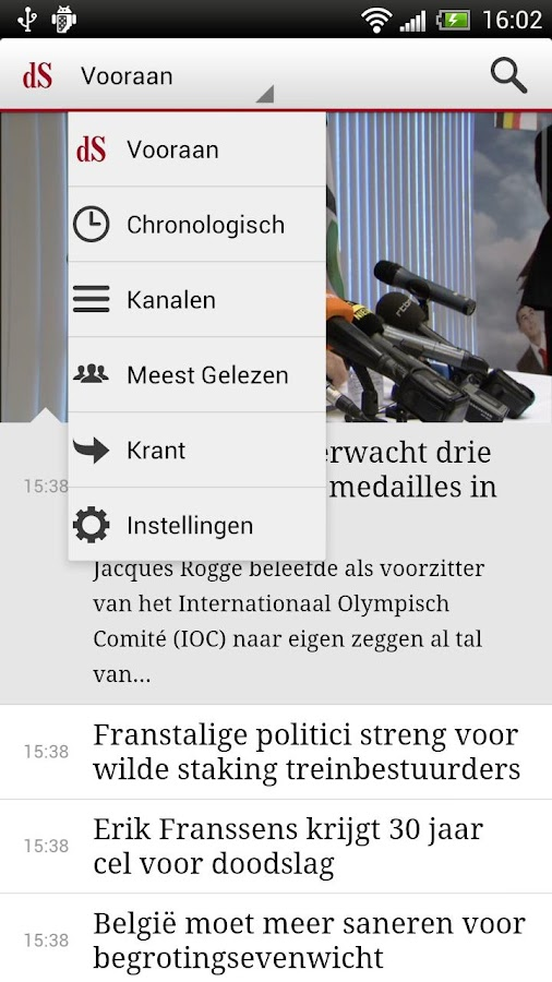 De Standaard Mobile - screenshot