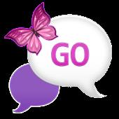 GO SMS - Plum Plaid Sky