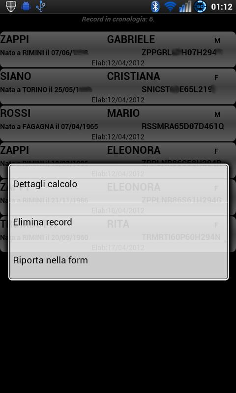 Codice Fiscale - screenshot