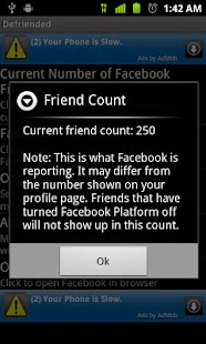 Defriended for Android - screenshot thumbnail