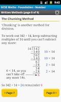 Screenshot of GCSE Maths Number