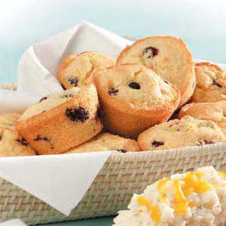 Corn Muffins with Blueberries.