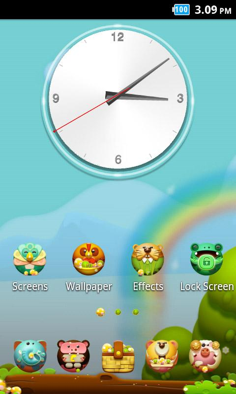 Animal_Turbo Launcher Theme - screenshot