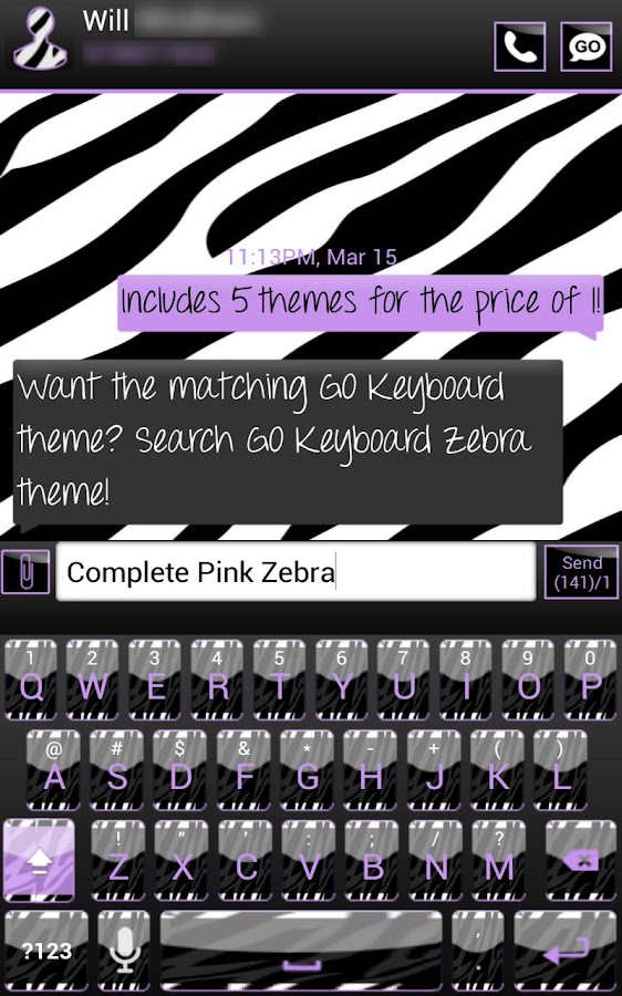 Complete Purple Zebra Theme - screenshot