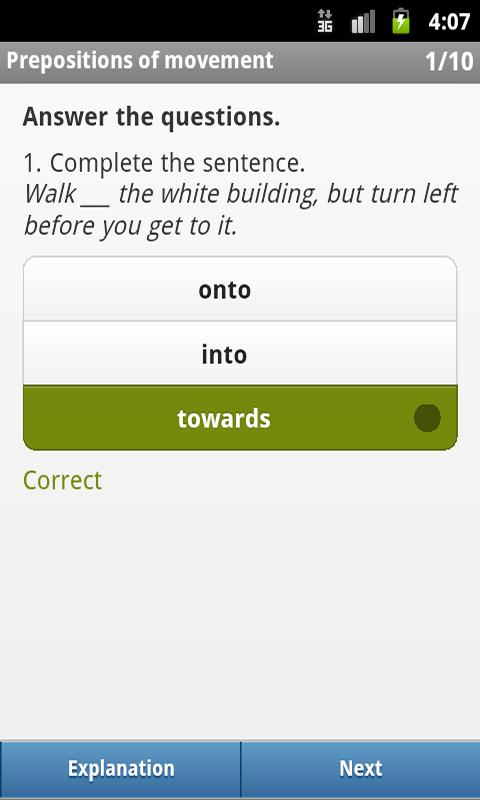 Prepositions Lite - screenshot