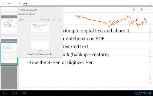 MyScript Notes Mobile - screenshot thumbnail