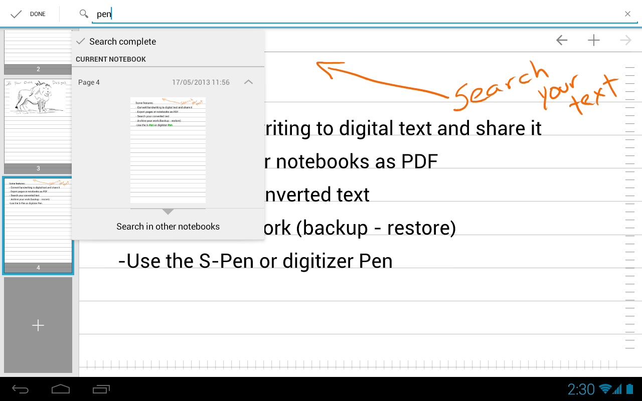 MyScript Notes Mobile - screenshot