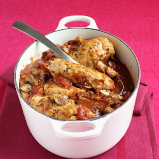 Chicken with Tomatoes and Mushrooms.