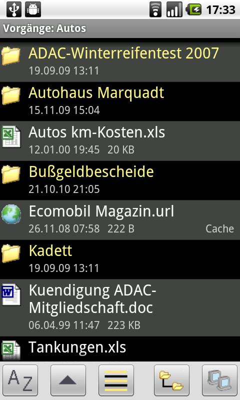 RFXdroid Remote File Explorer - screenshot