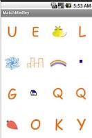 Screenshot of Basic shapes & Alphabet Match