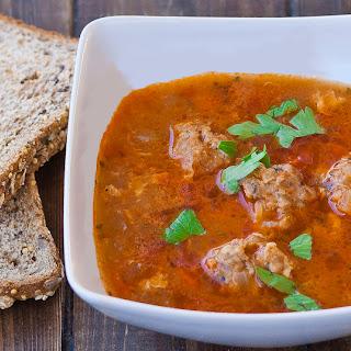 Romanian Meatball Soup (Ciorba de Perisoare)