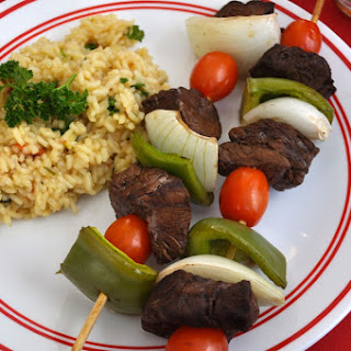 Steak Kabobs.