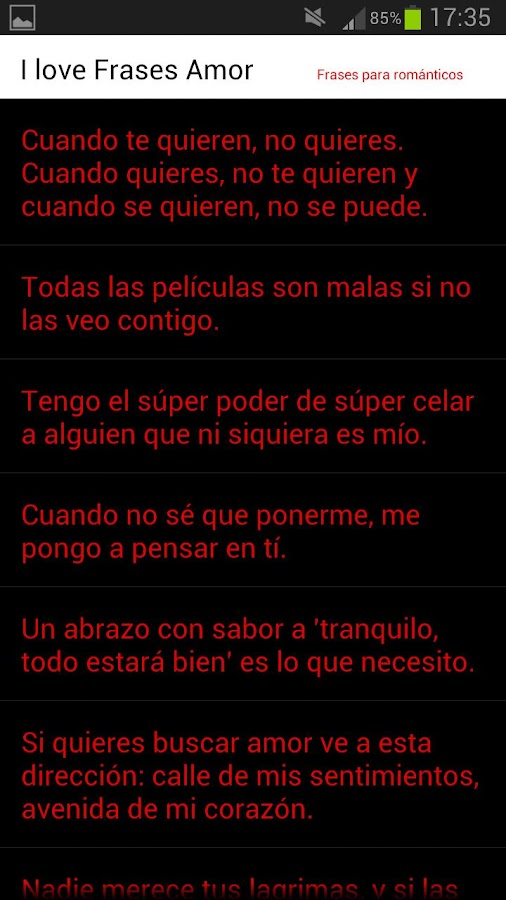I Love Frases Amor - screenshot