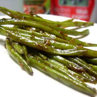 Chinese Green Bean Stir-Fry.