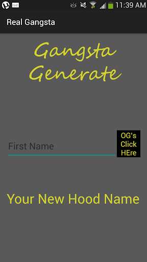 Gangster Name Generator