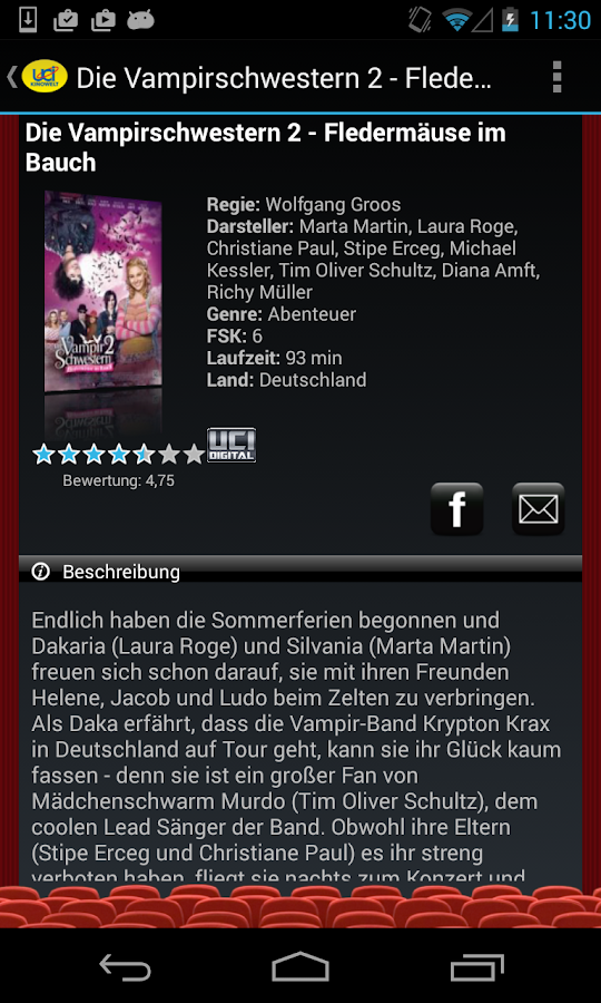 UCI KINOWELT Filme & Tickets - screenshot