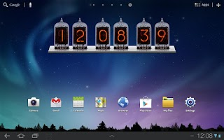 Screenshot of Nixie Time and Battery Widget