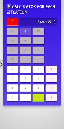 CALCULATOR FOR EACH SITUATION