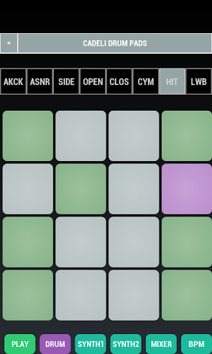 Cadeli Drum Pads screenshot for Android