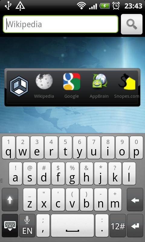 Askeroid Mobile Search Widget- screenshot