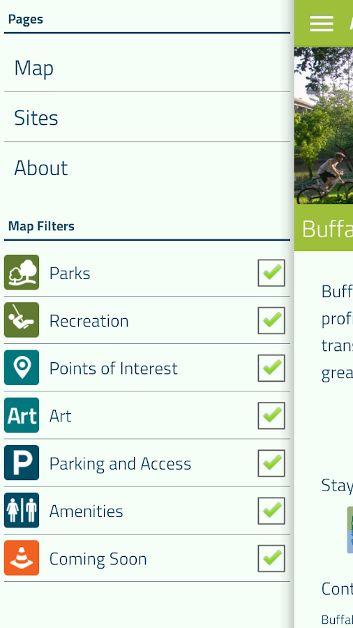 Buffalo Bayou Guide- screenshot
