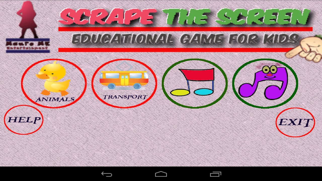 Scratch the ScreeN kids Free - screenshot
