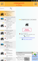 Screenshot of Campeggiando in Italy