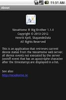 Screenshot of NexaHome Big Brother