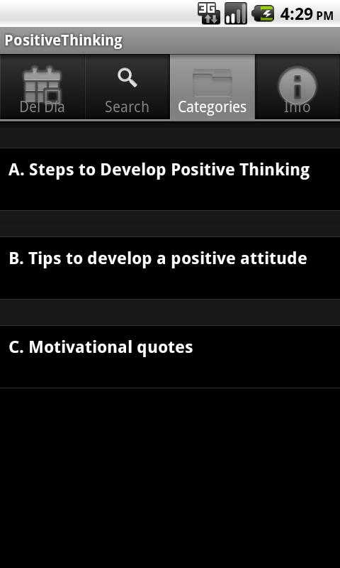 Positive Thinking. The Key to- screenshot