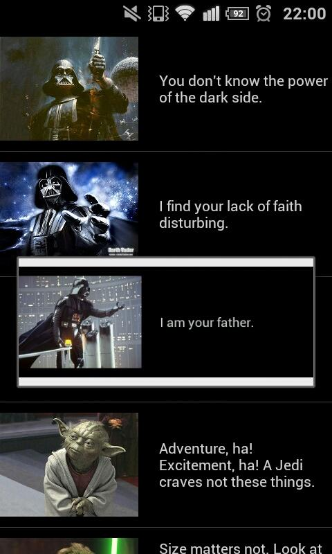StarWars Quotes - screenshot