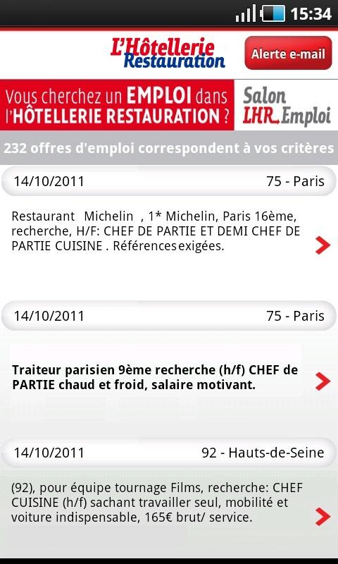 LHR Emploi - screenshot