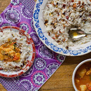 Blue Shark with Harissa and Oriental Rice