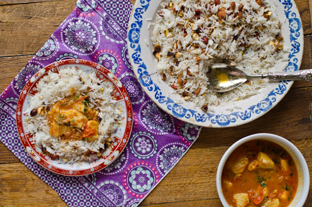 Blue Shark with Harissa and Oriental Rice Recipe