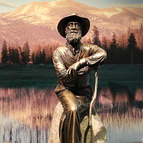 by Tim Davies - Buildings & Architecture Statues & Monuments ( bronze, john muir, sculpture, nature, yosemite, naturalist )