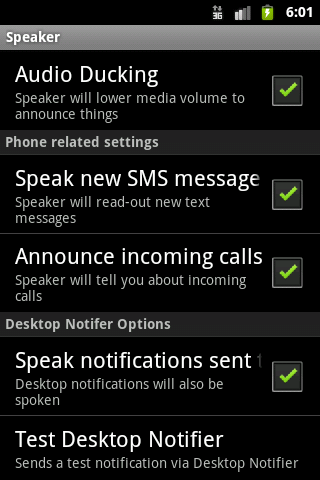 Speaker - screenshot