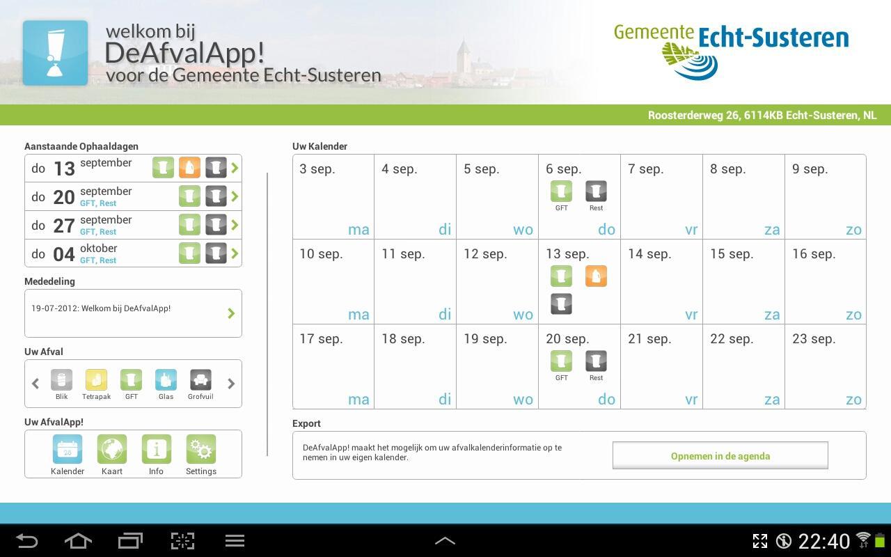 DeAfvalApp- screenshot