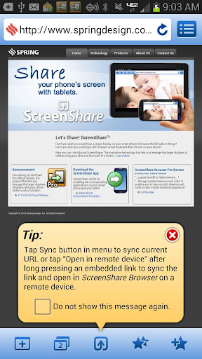 ScreenShare phone