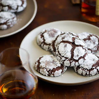 Dark Chocolate Bourbon Crack Cookies.