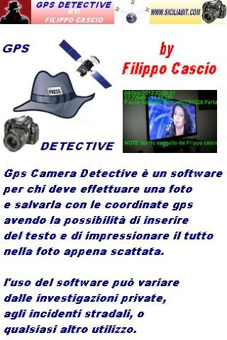 gps camera detective - screenshot
