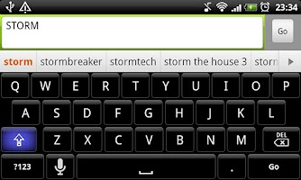 Screenshot of Storm - HD Keyboard Theme