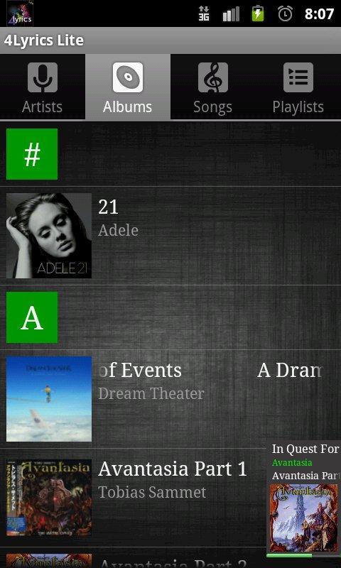 4Lyrics - screenshot