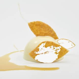 Pumpkin Cake with Mascarpone Cream and Star Anise Maple Sauce.