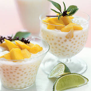 Thai Coconut Tapioca Pudding with Cayenne-Spiced Mango.